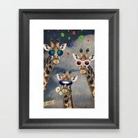 Animal Collection -- Let's Take  A Selfie Framed Art Print