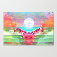 Moon's Cradle Canvas Print