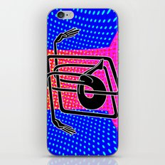 Noodle (blue) iPhone & iPod Skin