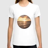 Good Night Sun! Womens Fitted Tee White SMALL