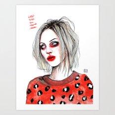 Girls talk (so much shit) Brody D Art Print
