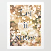Let It Snow Art Print