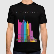 Shapes of Pittsburgh. Accurate to scale Mens Fitted Tee Black SMALL