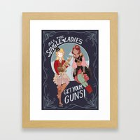 All The Single Ladies! Framed Art Print