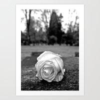 One Last Rose Art Print