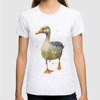 Goose, Golden Goose, Goo… Womens Fitted Tee Ash Grey SMALL