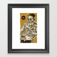 YES Public Disgrace 2 Framed Art Print