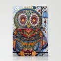 Magic  graphic owl  painting Stationery Cards