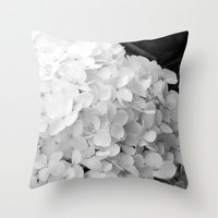 White flowers no.2 Throw Pillow