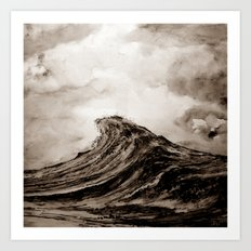 The WAVE - sepia Art Print