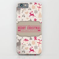 iPhone & iPod Case featuring Merry Christmas by Gal Ashkenazi