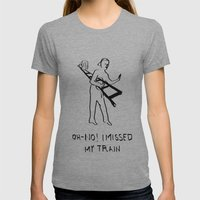 Traveling Womens Fitted Tee Athletic Grey SMALL