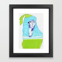 A Traveler  Framed Art Print