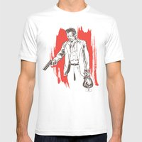 Bennie Mens Fitted Tee White SMALL