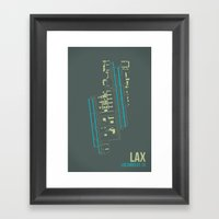 LAX Framed Art Print