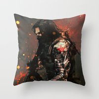 Blood in the Breeze Throw Pillow
