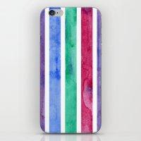Peacock Stripes iPhone & iPod Skin