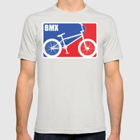 BMX Mens Fitted Tee Silver SMALL