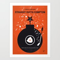 No422 My Straight Outta Compton minimal movie poster Art Print
