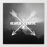 Heaven on Earth (B&W) Canvas Print