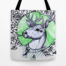 Deer in Dress Code  Tote Bag