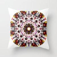 Donkey Flower Kaleidoscope  Throw Pillow