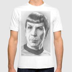 Spock - Fascinating (Star Trek TOS) White SMALL Mens Fitted Tee