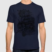Poetry Mens Fitted Tee Navy SMALL