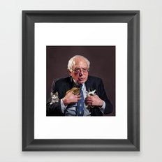 Bernie And Kittens Framed Art Print
