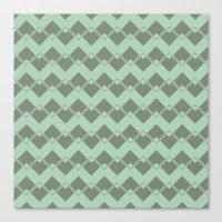 Mint Geometric Art Deco … Canvas Print
