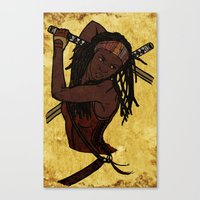 Michonne Canvas Print