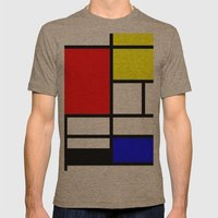 Mondrian Mens Fitted Tee Tri-Coffee SMALL