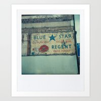 Blue Star Regent Art Print