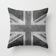 Throw Pillow featuring Union Jack  Vintage 3:5 … by LonestarDesigns2020 …