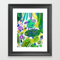 Between The Branches. V Framed Art Print