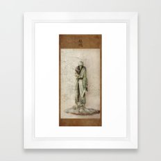 Hizamazuki Framed Art Print