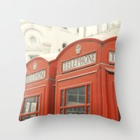 Telephone - London Photography Throw Pillow