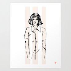First Hello No.1 (pink) Art Print