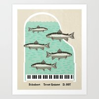 Schubert - Trout Quintet… Art Print