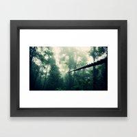 Zip Line Framed Art Print