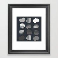 Slate Dots Framed Art Print