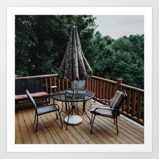Cabin Deck Art Print
