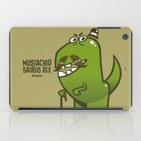 Mustachio Saurus Rex iPad Case
