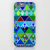 iPhone & iPod Case featuring Cobalt Blue Diamond pattern by Vanya