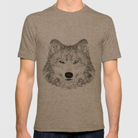wolf Mens Fitted Tee Tri-Coffee SMALL