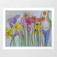 Spring Lineup  Art Print