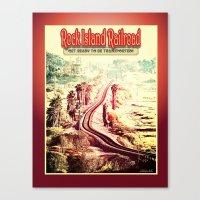 Rock Island Railroad Poster Canvas Print