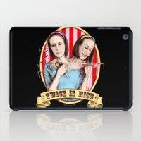 Tattler Twins (color) iPad Case