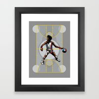 DR. J: On the Offensive Framed Art Print