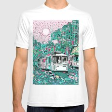 san francisco city skyline Mens Fitted Tee SMALL White